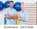 team of therapists with arms... | Shutterstock . vector #256173286