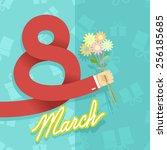 8 march. international women's... | Shutterstock .eps vector #256185685