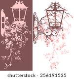 spring season street light... | Shutterstock . vector #256191535
