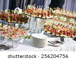 catering services background... | Shutterstock . vector #256204756