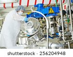pharmaceutical worker with... | Shutterstock . vector #256204948