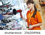positive shop assistant in home ...