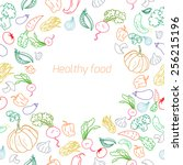 text placeholder healthy color... | Shutterstock .eps vector #256215196