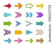 set of arrow icons | Shutterstock .eps vector #256217725