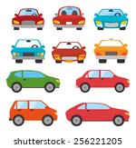 rent a car design  vector... | Shutterstock .eps vector #256221205