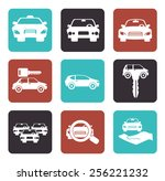 rent a car design  vector... | Shutterstock .eps vector #256221232