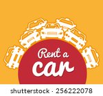 rent a car design  vector... | Shutterstock .eps vector #256222078