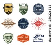 set of retro vintage badges and ... | Shutterstock . vector #256226818