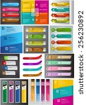 colorful modern text box... | Shutterstock .eps vector #256230892