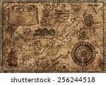 hand drawn illustration of old...   Shutterstock . vector #256244518