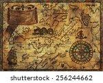 hand drawn illustration of old...   Shutterstock . vector #256244662