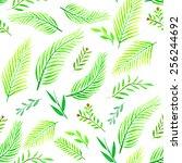 summer tropical pattern | Shutterstock . vector #256244692