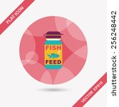 pet fish feed flat icon with... | Shutterstock .eps vector #256248442