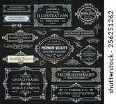 vector vintage collection ... | Shutterstock .eps vector #256251262