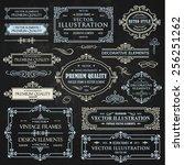 vector vintage collection ... | Shutterstock .eps vector #256251262