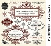 vector vintage collection ... | Shutterstock .eps vector #256251268