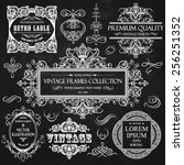 vector vintage collection ... | Shutterstock .eps vector #256251352
