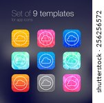 set of 9 bright templates for...