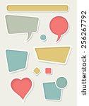set of retro vector design... | Shutterstock .eps vector #256267792