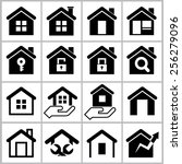 houses icons | Shutterstock .eps vector #256279096