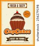 stylish vintage menu card...   Shutterstock .eps vector #256279198