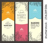 bread vertical vintage banners. ...   Shutterstock .eps vector #256289386
