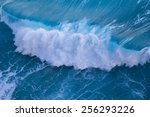 Aerial View Of Powerful Wave...