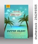 stylish flyer  banner or... | Shutterstock .eps vector #256293505