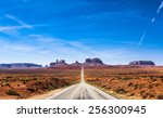View Of The Monument Valley And ...