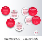 elements for presentations ... | Shutterstock .eps vector #256304305