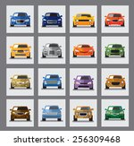vector black auto icon set on... | Shutterstock .eps vector #256309468