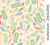 spring seamless flower pattern | Shutterstock .eps vector #256312006