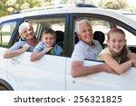grandparents going on road trip ... | Shutterstock . vector #256321825