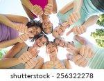 fitness group standing in... | Shutterstock . vector #256322278