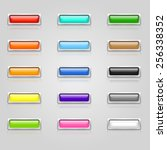 set of colorful 3d web buttons... | Shutterstock . vector #256338352