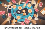 business people playing...   Shutterstock .eps vector #256340785