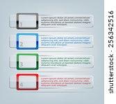 vector banners. transparent... | Shutterstock .eps vector #256342516