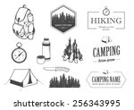 hike set | Shutterstock .eps vector #256343995