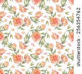 seamless pattern with pink... | Shutterstock . vector #256354762