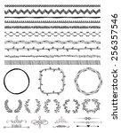 hand drawn doodle seamless... | Shutterstock . vector #256357546