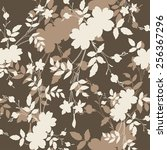 seamless floral pattern.... | Shutterstock .eps vector #256367296