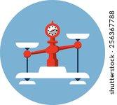 vector balance scales | Shutterstock .eps vector #256367788