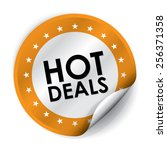 hot deals sticker and tag  ... | Shutterstock . vector #256371358