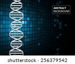 dna background. molecular... | Shutterstock .eps vector #256379542