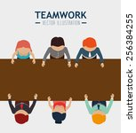 teamwork design  vector...   Shutterstock .eps vector #256384255
