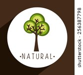green tree design  vector... | Shutterstock .eps vector #256387798
