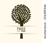 tree design  vector... | Shutterstock .eps vector #256389346