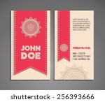 business card. vintage... | Shutterstock .eps vector #256393666