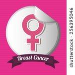 breast cancer design  vector... | Shutterstock .eps vector #256395046