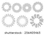 set of vintage hand drawn... | Shutterstock .eps vector #256405465